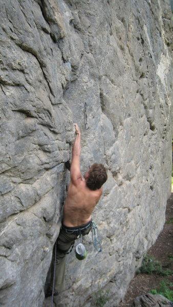 Rock Climbing Photo: Matt on right center route