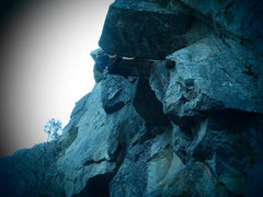 Rock Climbing Photo: Clay Meier giving it a lead burn.