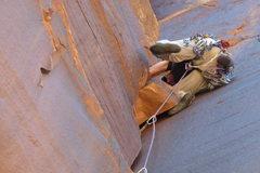 Rock Climbing Photo: Good use of the jutting block