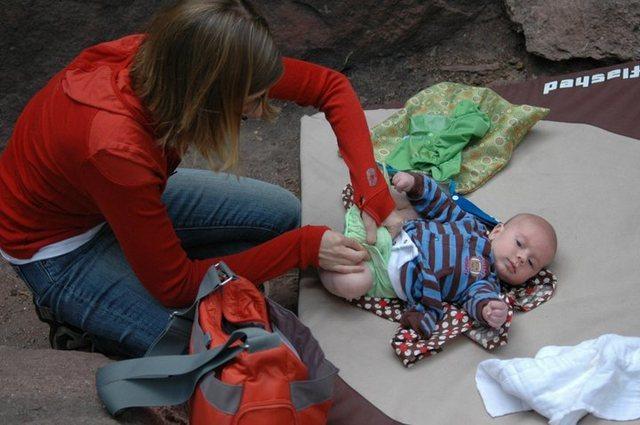 Rock Climbing Photo: Bouldering mats are dual purpose.
