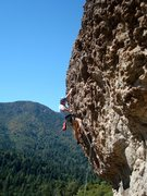 Rock Climbing Photo: Floyd Hayes leading Wine Style. Photo by Cheri Erm...
