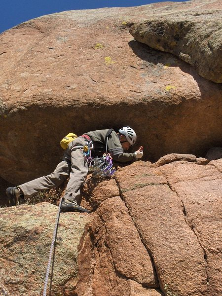 "Rock Climbing Photo: Start of ""American Crawl,"" accessing the..."
