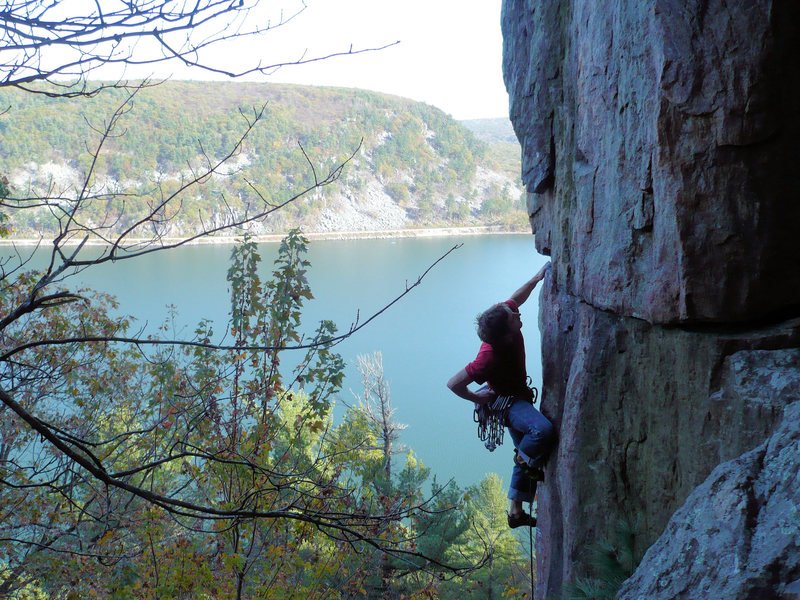 Rock Climbing Photo: Jay Knower onsighting SOGC 10/16/2010  photo: John...
