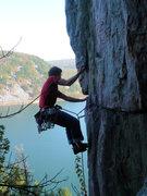 Rock Climbing Photo: Jay Knower onsighting SOGC 10/16/2010  photo: John...