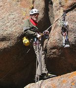 Rock Climbing Photo: Prevent rope drag! The gear belay for the standard...