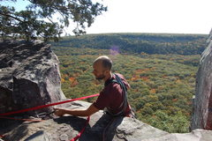 Rock Climbing Photo: setting anchor left of Boyscout