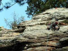Rock Climbing Photo: Near the top