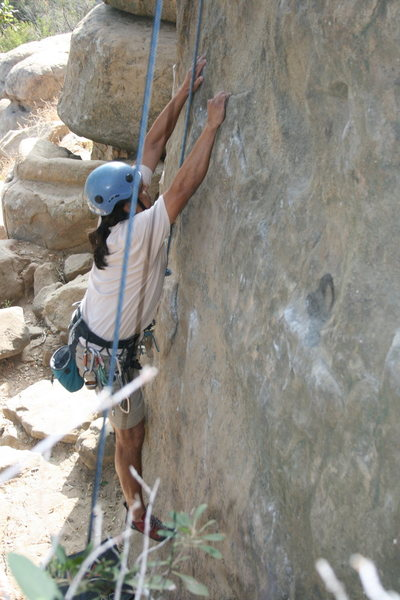Rock Climbing Photo: Albert on Nutcracker.