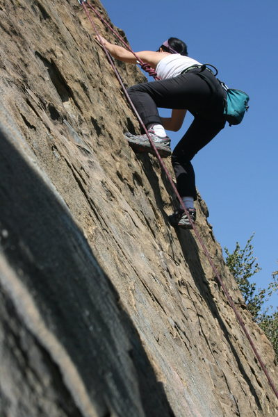 Rock Climbing Photo: Marta's first toprope.