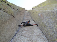 Rock Climbing Photo: at 5'0'' it is possible to stem.  possible, but br...