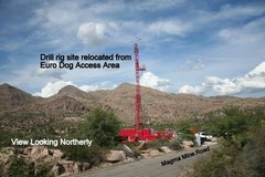 Rock Climbing Photo: Drill Rig Near Euro Dog Access Area 10 17 10