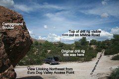 Rock Climbing Photo: Euro Dog Access Area, Still Drill Rig Free 10 17 1...