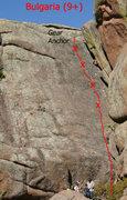 """Rock Climbing Photo: Topo of """"Bulgaria."""""""