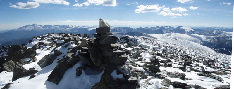 Summit with bulk of RMNP in background. Oct. 16th, 2010.