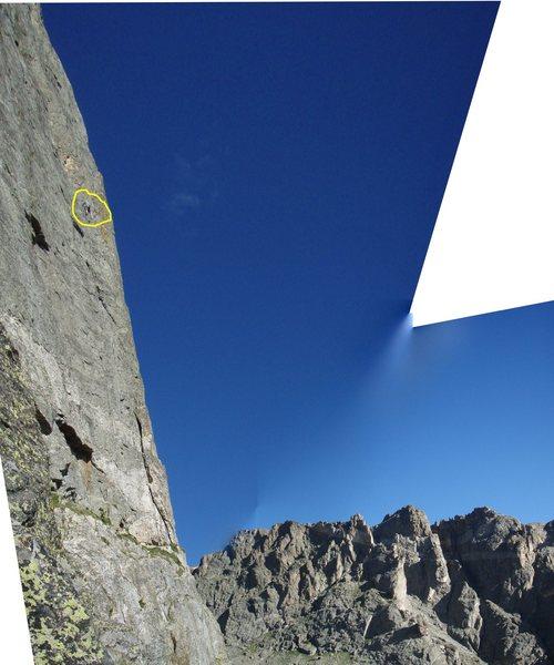 Rock Climbing Photo: Climber on Culp-Bossier.