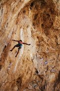 Rock Climbing Photo: Falling off of a great climb.  Photo By: Matt Schw...