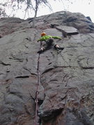 Rock Climbing Photo: Matt Kuehl jumps on the sharp end for this beast.