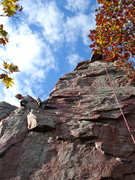 Rock Climbing Photo: Matt Kuehl takes a break from Acid Rock to scope t...