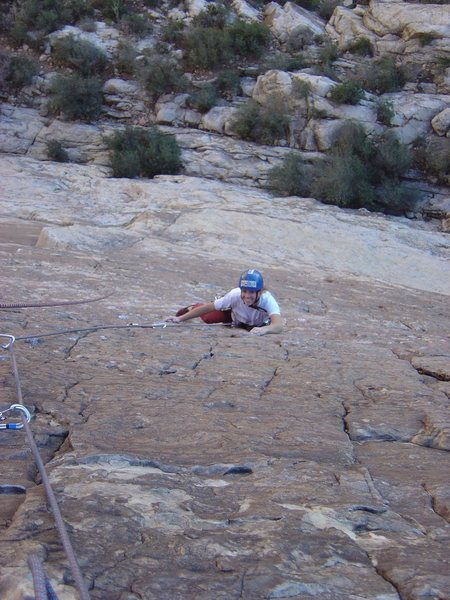 Rock Climbing Photo: Krista on Prince of Darkness, September 2004.