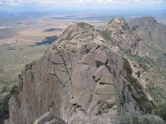Rock Climbing Photo: South face of Razorback as seen from the summit of...
