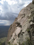 Rock Climbing Photo: On the summit, we'd been watching the storms in th...