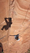 Rock Climbing Photo: Just an idea of how steep the fingers pitch is