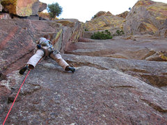 Rock Climbing Photo: Keen Butterworth on the first pitch of Perversion ...