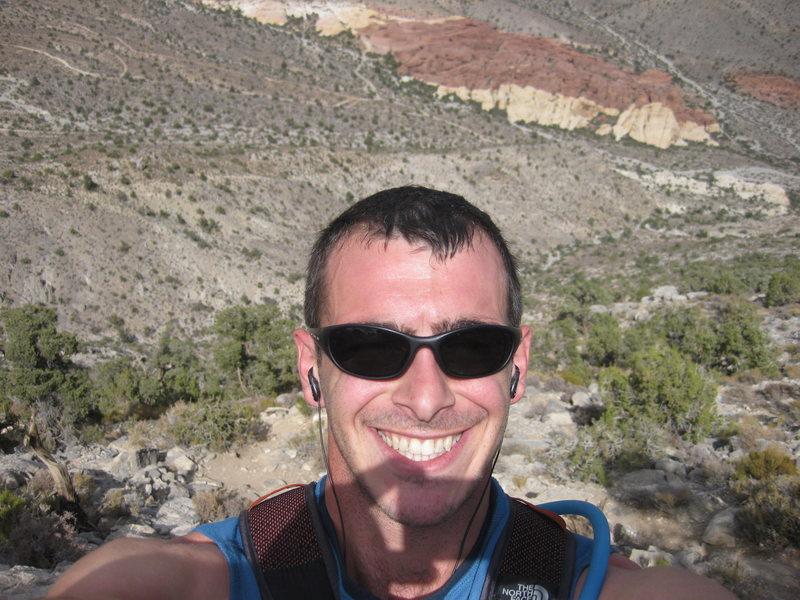 Rock Climbing Photo: me in Red rocks