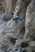 Rock Climbing Photo: Uknown climber on Power Grid. She did cruz it.