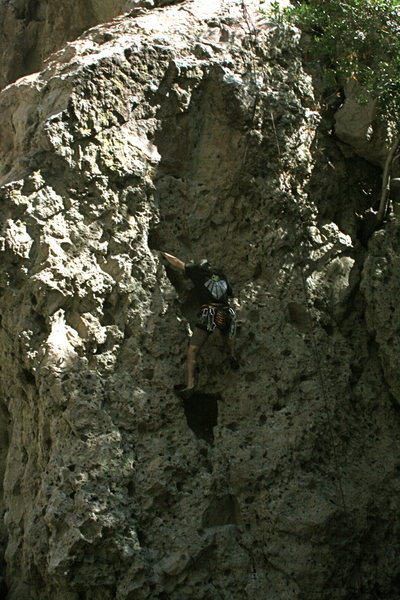 Rock Climbing Photo: Me on a climb around the corner from Electric Eye.