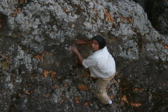 Rock Climbing Photo: Albert retrieving the water bottle he dropped goin...