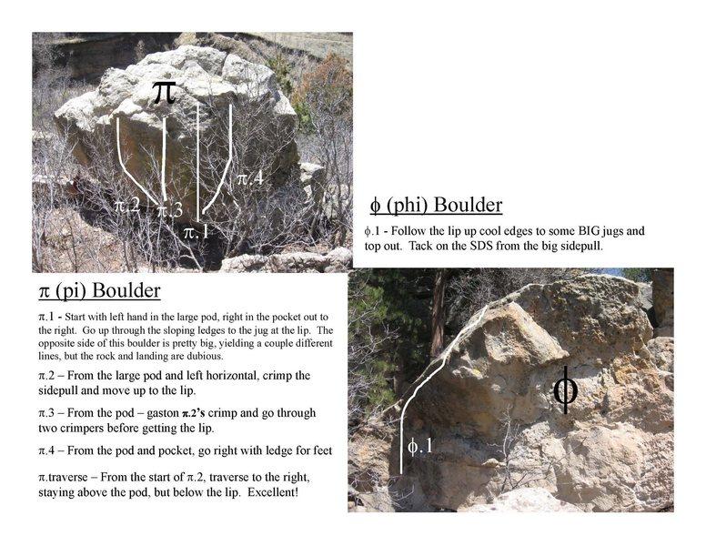 Pi and Phi Boulders.