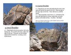 Rock Climbing Photo: Mu & Sigma Boulders.