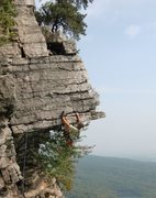 Rock Climbing Photo: Mark Arrow on the Dangler, Gunks
