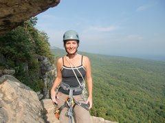 Rock Climbing Photo: Just finishing Directissima, at start of High E, G...