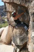 Rock Climbing Photo: Agina working on California Crack.