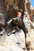 Rock Climbing Photo: Me working on California Crack.