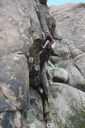 Rock Climbing Photo: Nathan working on California Crack. And the only o...