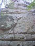 Rock Climbing Photo: Go up the right facing dihedral and then straight ...
