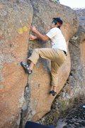 Rock Climbing Photo: Smear, smear, smear