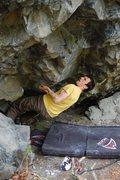 Rock Climbing Photo: Thunder Fluff Crux