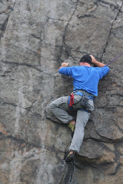 Rock Climbing Photo: holding on