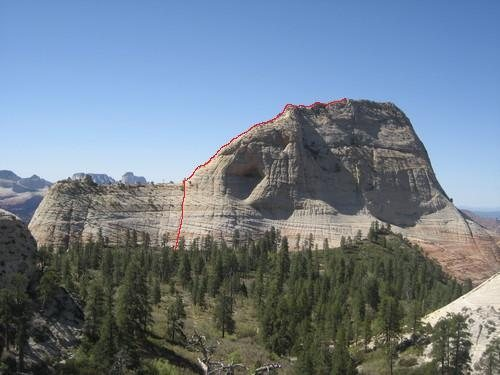This is taken from the end of Northgate Peaks trail.  The route follows the red line.
