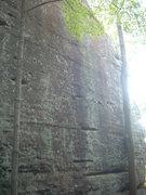 Rock Climbing Photo: Sends the darker streak.
