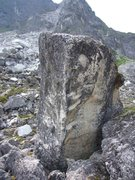 Rock Climbing Photo: Swet Home Alaska V9. An arete on the right(North) ...