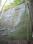 Rock Climbing Photo: Climb the slab on the left.