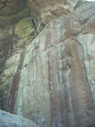 Rock Climbing Photo: Another shot of the project in the water streak on...