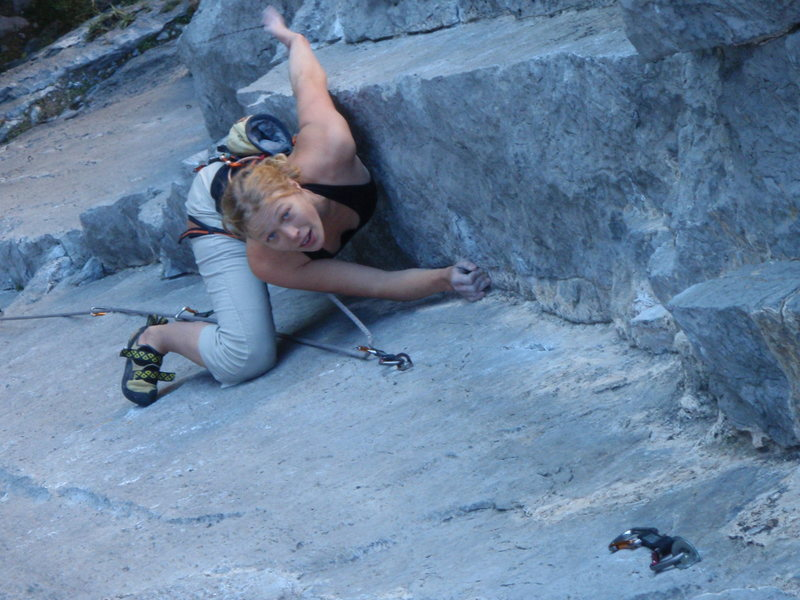 Rock Climbing Photo: good rest before the crux
