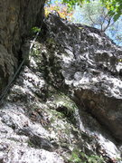 Rock Climbing Photo: Climb before it was established. The wall on the l...