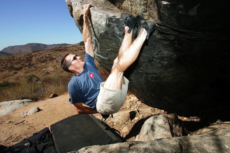 Rock Climbing Photo: 21 Point Boulder 5.10 Traverse